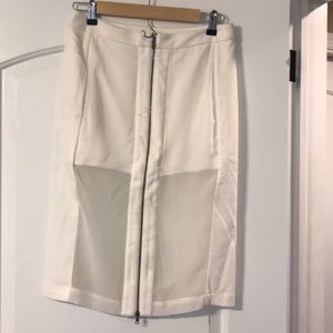 BCBG MaxAzria white sexy skirt.